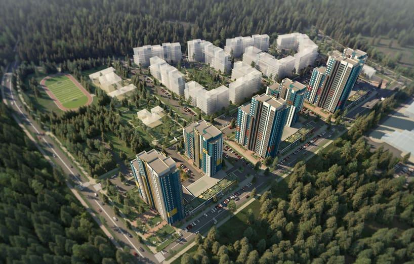 Кукковка III в Петрозаводске, эскизный проект. Илл. с сайта: 3darchitect.by