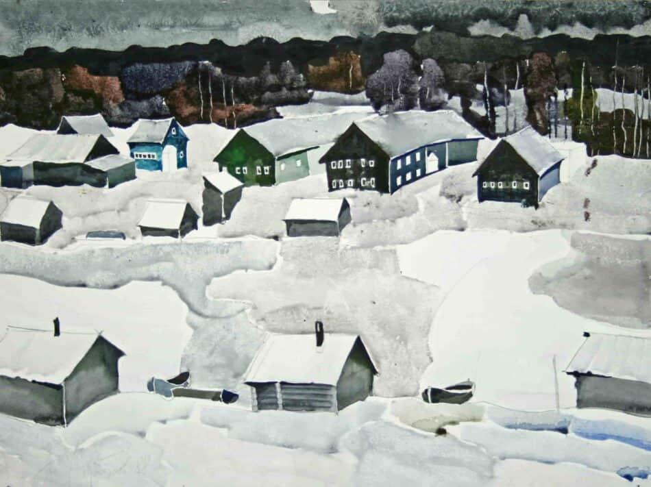 Александр Харитонов. Зима в Пряккеля. 1988