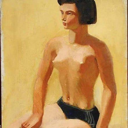 Алексей Пахомов. На солнце. 1935. Холст, масло
