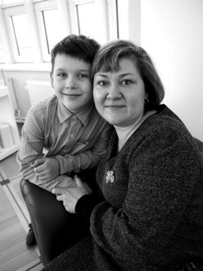 Ольга Барышева с сыном Георгием. Фото Ирины Ларионовой
