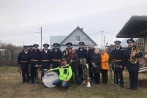 Военный оркестр с  Владимиром Сергеевичем Орловым и его семьей