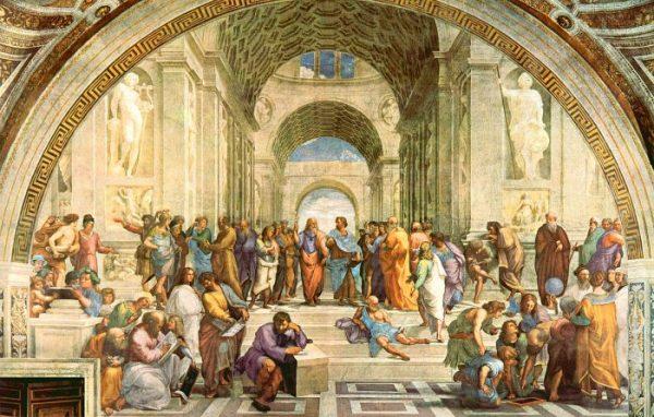 Рафаэль. Фреска «Афинская школа». Ватикан