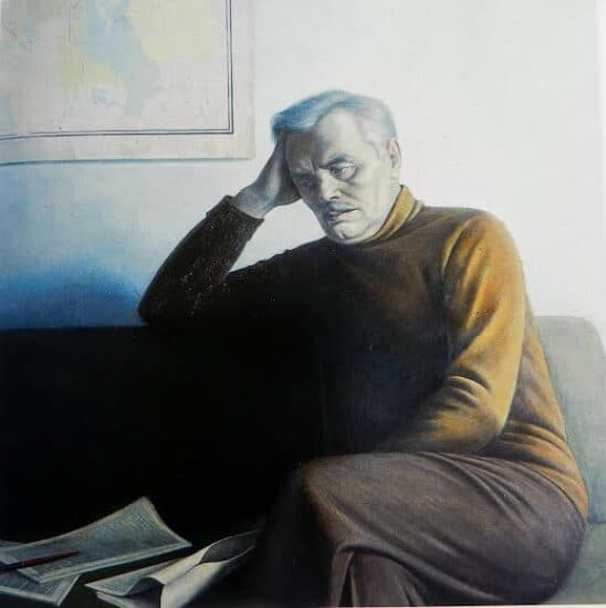 Портрет Дмитрия Гусарова работы Валентина Чекмасова