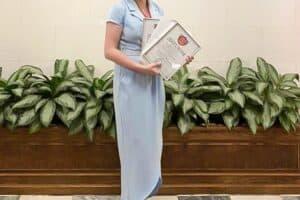 Татьяна Семкина победила в номинации «Лучший молодой преподаватель колледжа» по психолого-педагогическому направлению.