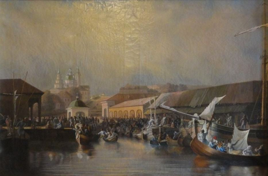 Василий Пармаков. Вид городской пристани