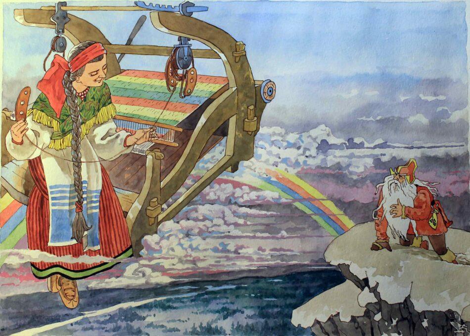 Владимир Лукконен. . Девушка на радуге