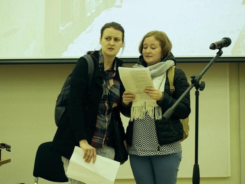 Вера Елизавета Жданова и Тома (Надежда Лазарева) в ночном Таллинне