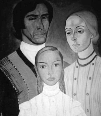 Е.Пехова, Юрий Сидоров, Светлана Губина и дочь их Алёна
