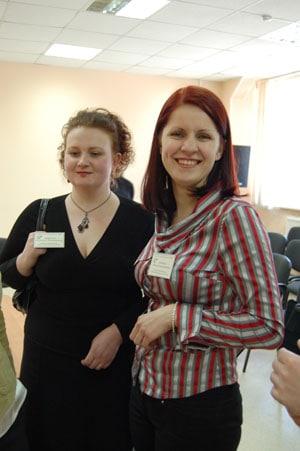Участники конкурса. Слева- Екатерина Либерцева