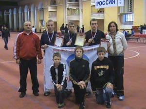 Игорь Виссарионов и Наталья Гусева с командой