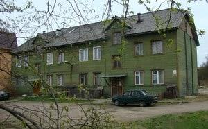 Восьмиквартирный жилой дом на улице Профсоюзов. Фото мая 2009 года