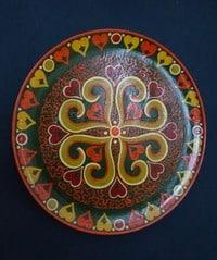 Расписная тарелка Г. Григорьевой