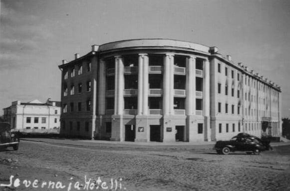 """Гостиница """"Северная"""". Архитектор Ю. Русанов. Фото 1942 года"""