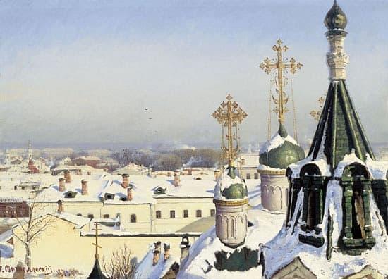 Сергей Светославский (1857 - 1931). Из окна Московского училища живописи, ваяния и зодчества 1878. Холст, масло