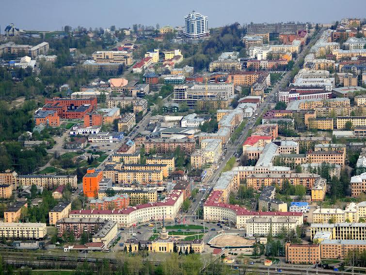 Исторический центр Петрозаводска с птичьего полета. Фото Бориса Босарева