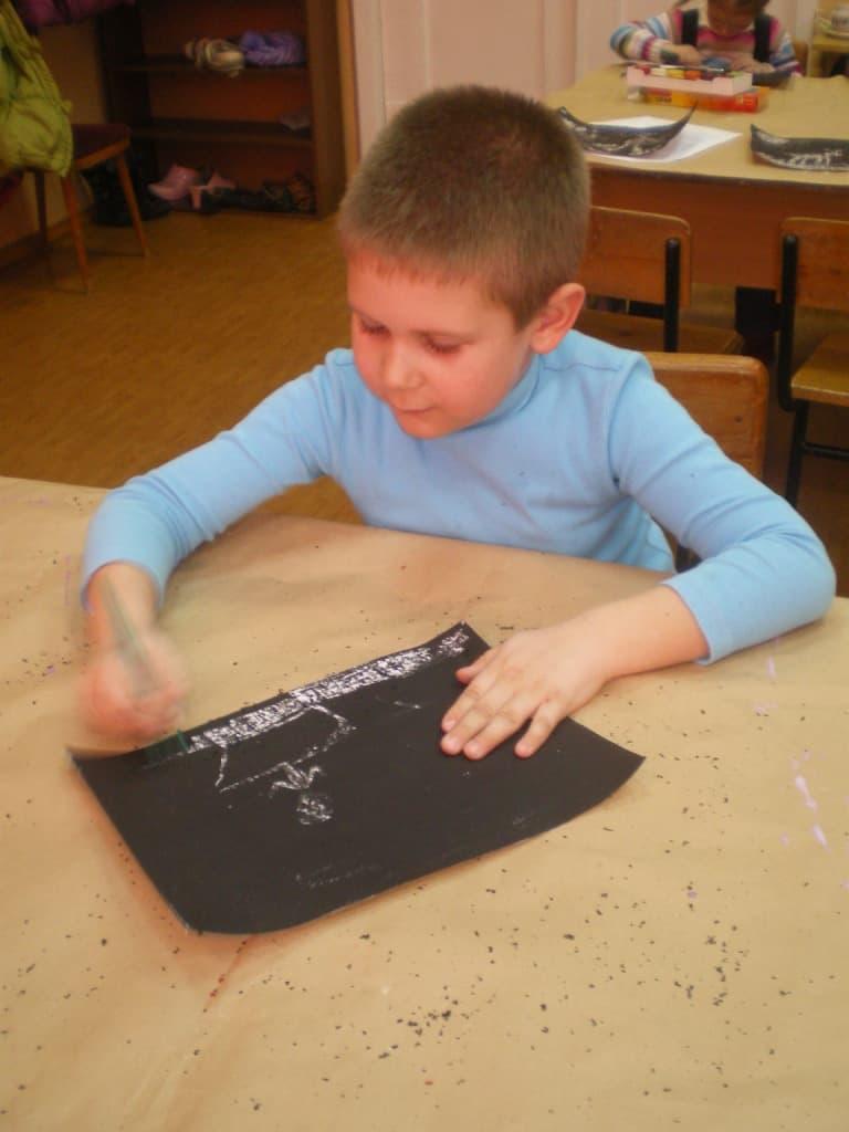 Рисуем петроглифы