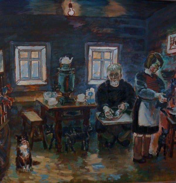 В мастерской у Бориса Акбулатова