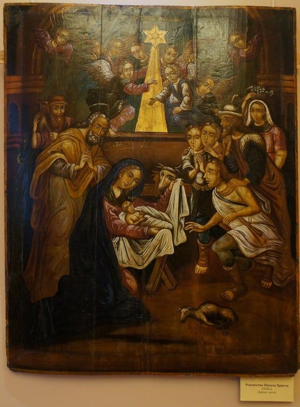 Эта икона «Рождество Христово» висит в Гомельском музее-дворце