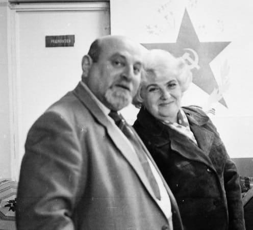 Исаак Фрадков и Инна Полонская. 1985 год
