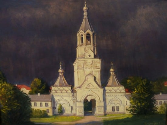 В. Чекмасов. Грозовое небо. Десятинный монастырь