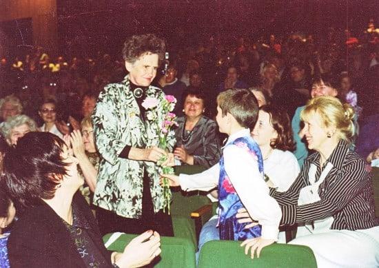 Тамара Дмитриевна Ригина  на 65-летии ДТДиЮ, 2002 год