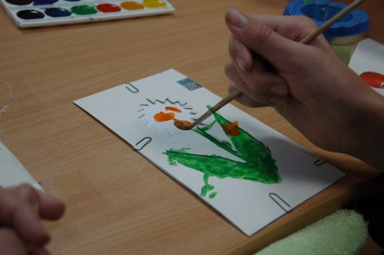Урок рисования в группе беспредметного обучения