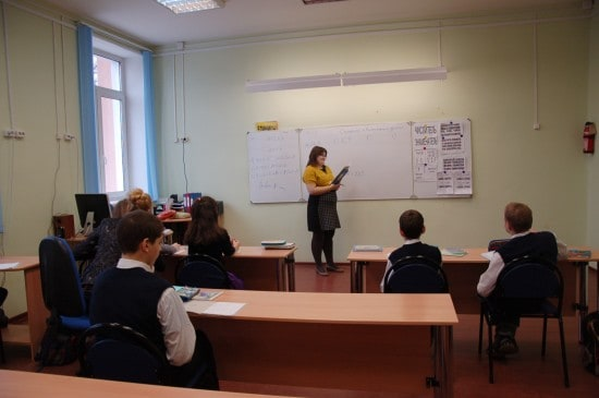 Татьяна Петровна Третьякова ведет урок математики