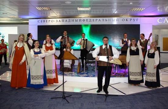 Выступление в экспозиции регионов России – «Кантеле» представлял не только Карелию, но и Северо-Западный федеральный округ