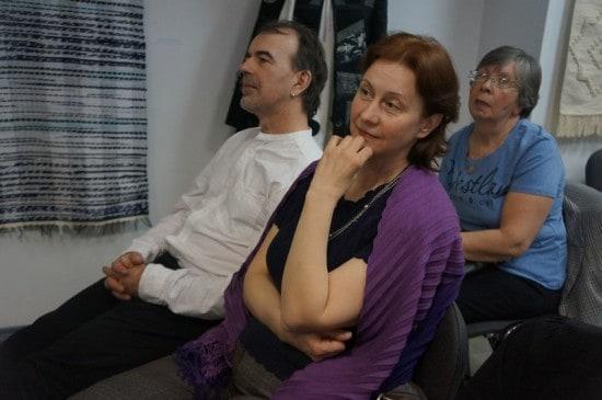 Арто Ринне и Марина, жена Вячеслава Агапитова