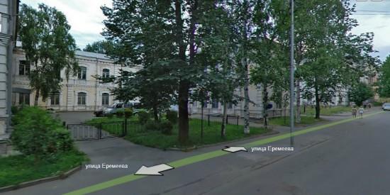 Вид на хирургическую лечебницу с Левашовского бульвара