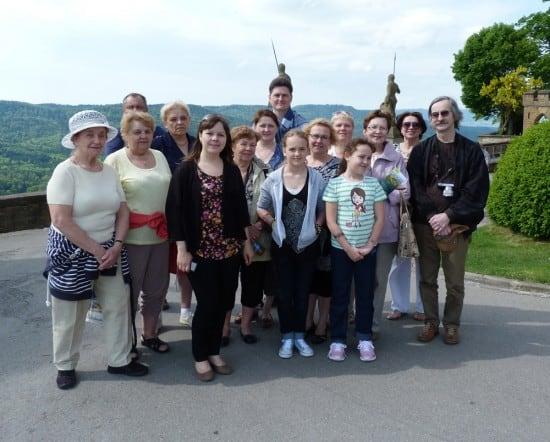 Карельская делегация в замке Гогенцоллернов