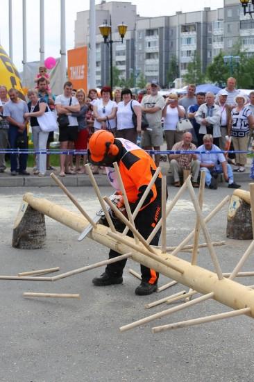 В рамках празднования Дня Республики состоялись итоговые выступления вальщиков леса «Лесоруб-2014»