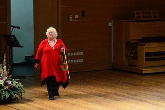 Дора Шварцберг на сцене Петрозаводской консерватории