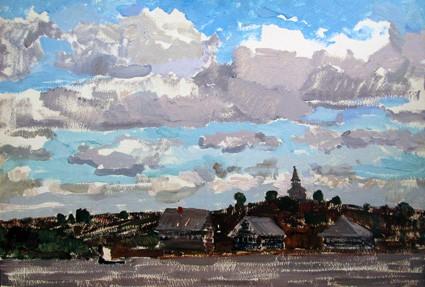 В. Авдышева  «Облака над кижским берегом». 1975