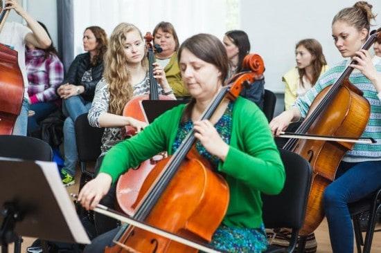 Группа виолончелистов из Норвегии