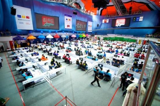 На чемпионате мира по программированию. Фото  icpc.baylor.edu