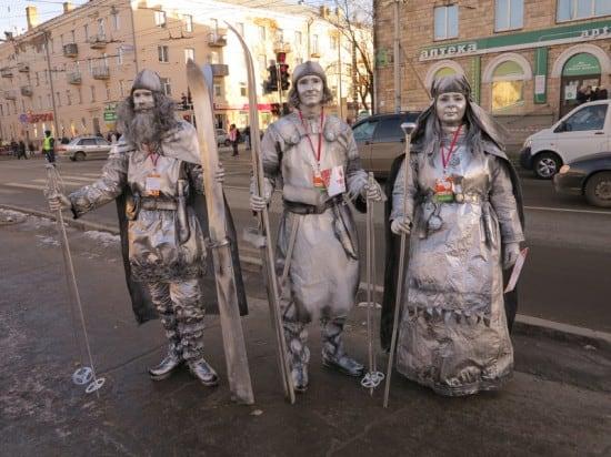 Герои Калевалы. Живые скульптуры