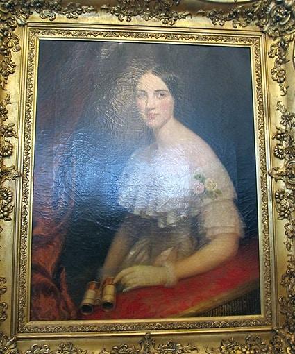 Неизвестный художник. Дама в театральной ложе, предположительно Е.Н. Дантес-Геккерен.