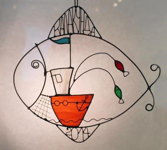 Панно-витраж «Рыба – Калакунда» Ивана  Павлова