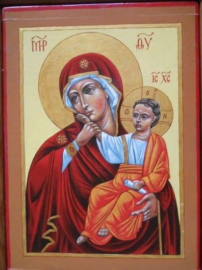 -Икона домовая. Божья матерь Вотопедская (Утешение). 1997