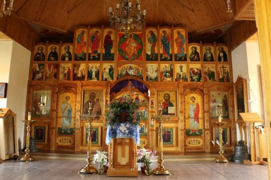 -Иконостас в церкви Зосимы, Савватия и Германа Соловецких. 2005-2006