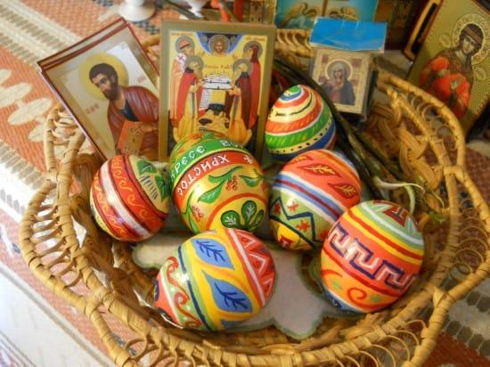 Пасхальные расписные деревянные яйца.1999-2011