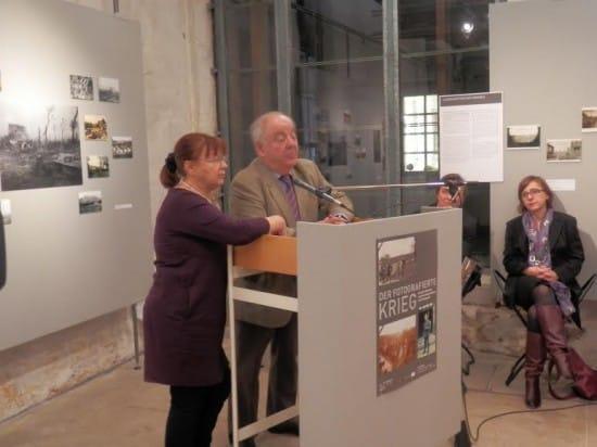 На открытии выставки в городском музее Тюбингена,  посвященном 100-летию Первой мировой войны