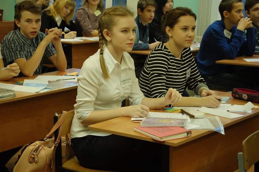 На уроке в школе поселка Ильинский