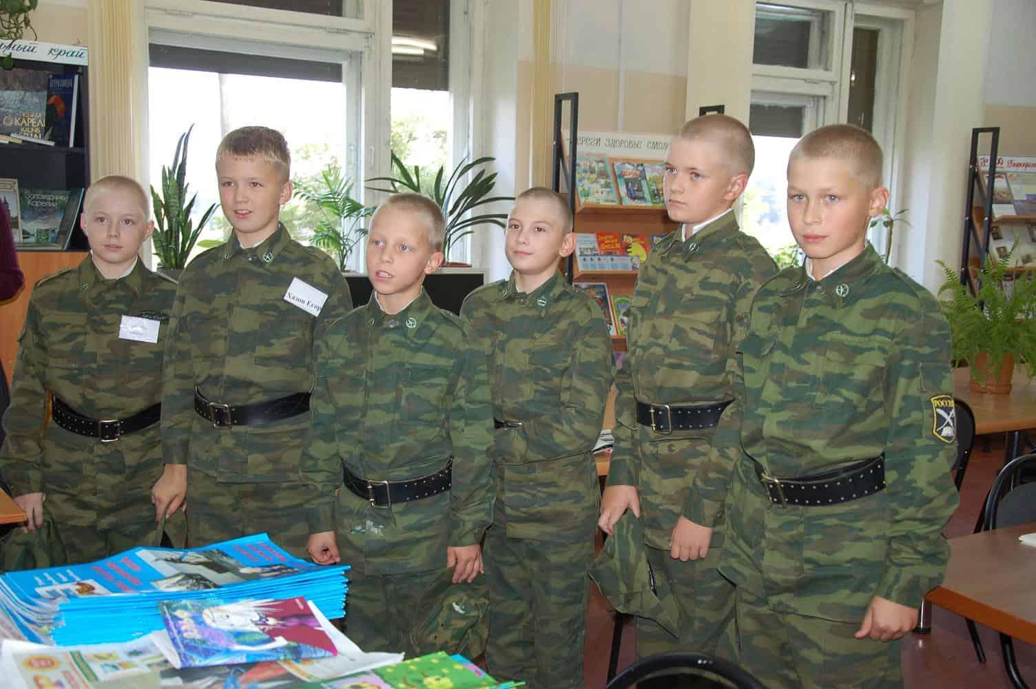 В Карельском кадетском корпусе. Фото Марии Голубевой