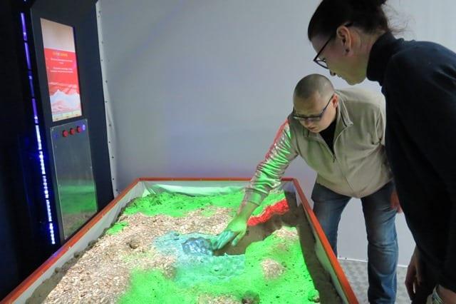 Интерактивная песочница в экспозиции музея Костомукши