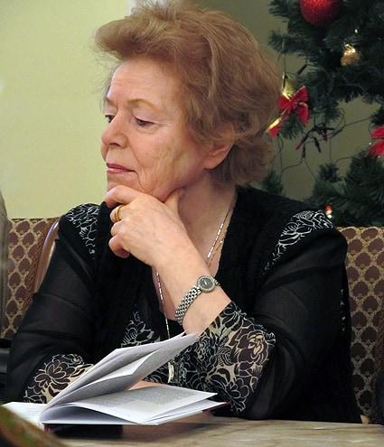Гостьей презентации стала сестра поэта Татьяна Красовицкая (Морозова)