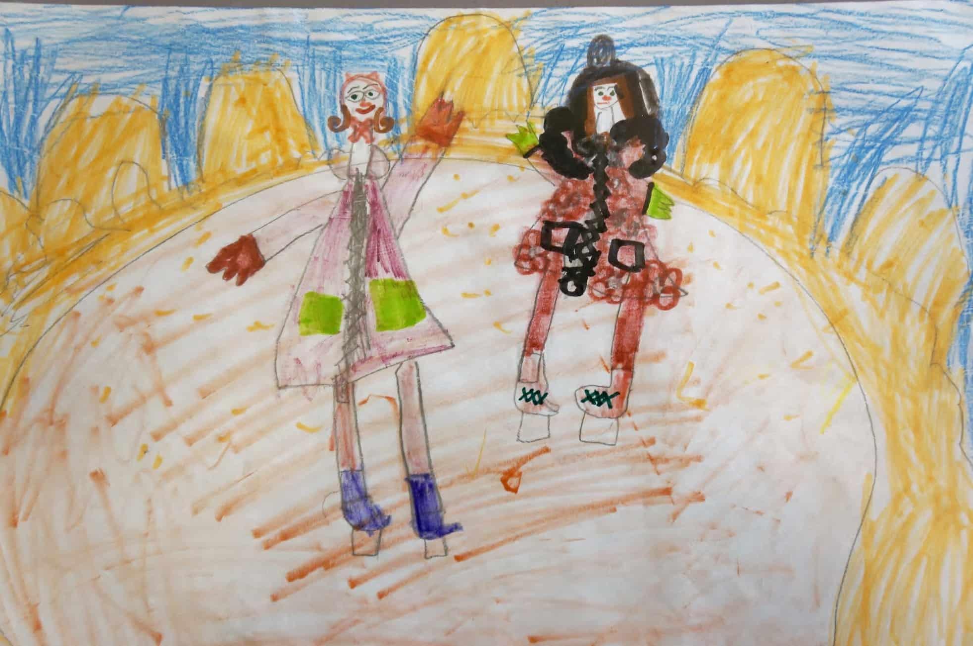 Перед открытием провели конкурс детских рисунков «А мы – на каток!»