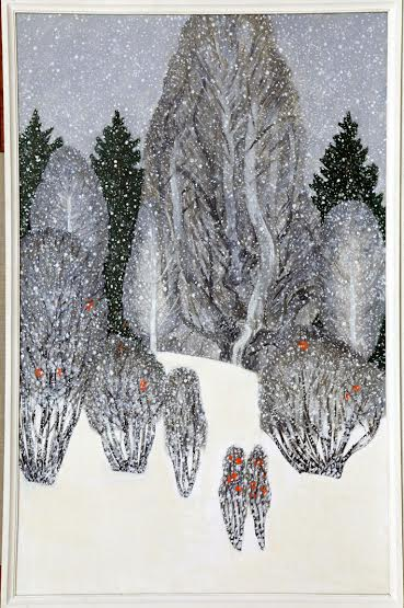 Екатерина Пехова. – «Снегопад. Почти как в Муми-дален» из квадриптиха «Мой любимый холм»