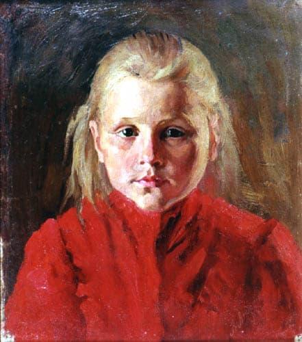 Александр Андриянов. Девочка в красном платье